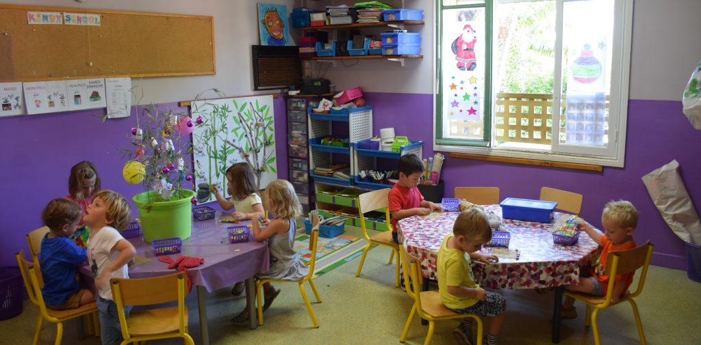 Une salle de classe de Kindy School